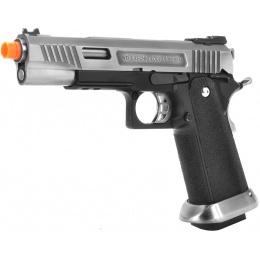 WE Tech T-Rex Full Metal Gas Blowback Pistol - SILVER