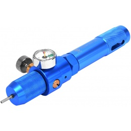PPS Adjustable Gas Charger for 12g CO2 Cartridges w/ PSI Gauge