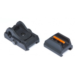 ASG Scorpion EVO 3- A1 Polymer Front and Rear Sight - BLACK