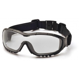 ASG Strike Systems Anti-Fog Clear Glasses w/ Ratchet Headband - BLACK