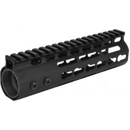 SHS Airsoft 7-Inch KeyMod RIS Metal Handguard w/ Top Rail