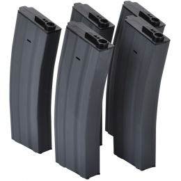 Firepower Airsoft 190 Rd Mid-Cap M4/M16 AEG Magazines - Set of 5