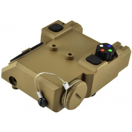NcStar Green Laser Designator and 4 Color LED Nav Light - TAN
