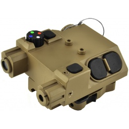 NcStar Green Laser Designator and 4 Color LED Nav Light - TAN