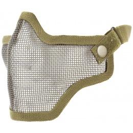 TMC Airsoft V1 Strike Steel Mesh Half Face Mask - TAN