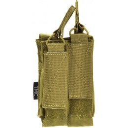 TMC Airsoft MOLLE Double Open Top MP7 Magazine Pouch-KH