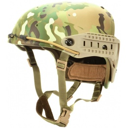 AMA Tactical Airsoft AF Helmet w/ Adapter Rails - LAND CAMO