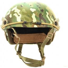 AMA Tactical Airsoft AF Helmet w/ Adapter Rails - LAND CAMO
