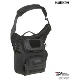 Maxpedition Wolfspur AGR Tactical Crossbody Shoulder Bag - BLACK