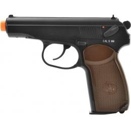 KWC Makarov Full Metal CO2 Russian Airsoft Pistol - BLACK