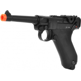 KWC P08 Model CO2 GBB Airsoft Luger Pistol - Black