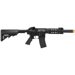 Lancer Tactical M4 SD AEG RIS Airsoft Rifle w/ Mock Suppressor