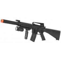 CYMA Airsoft M16 RIS Spring Rifle w/ Flashlight and Mock Suppressor
