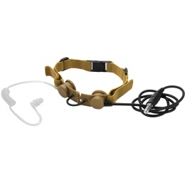 Z-Tactical Tactical Throat Mic w/ Air Tube Earpiece
