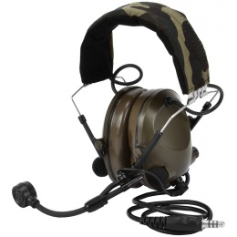 Z-Tactical Z042 Batt. Powered Sound-Trap Headset w/ Mic - Woodland