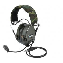 Z-Tactical zTEA Hi-Threat Tier 1 Headset w/ Mic - Woodland
