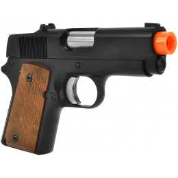 ARMY Airsoft Full Metal R45 DETONICS .45 GBB Pistol - Black
