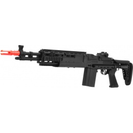 JG Airsoft M14 AEG Tactical EBR Full Metal Rifle Crane Stock - BLACK