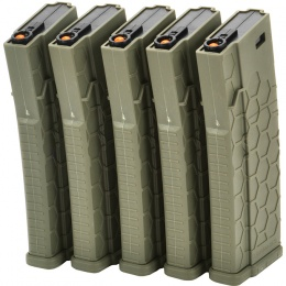 Dytac Hexmag Airsoft 120rds Magazines for M4 AEG 5 Pack - OD