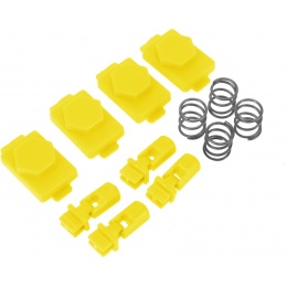 Hexmag Airsoft HexID Hexgon Latchplates Followers - HAZARD YELLOW