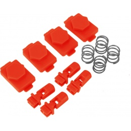 Hexmag Airsoft HexID Hexgon Latchplates Followers - LAVA RED