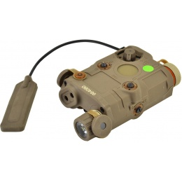 Bravo P15 Flashlight and Green Laser Combo Airsoft Designator  - TAN