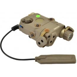 Bravo P15 Flashlight and Green Laser Combo Airsoft Designator  - TAN