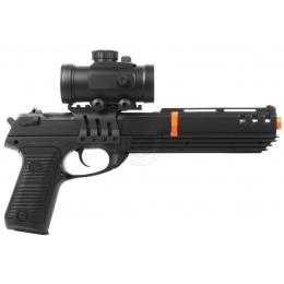 DE Airsoft Deltaforce Tactical KS-91 Spring Pistol w/ Red Dot