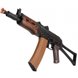 LCT Airsoft AKS74U Assault Rifle AEG w/ Wood Foregrip - Black