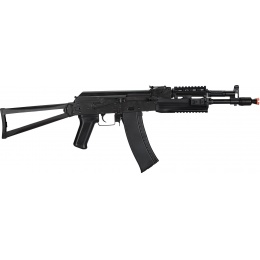LCT Airsoft AK-105 Assault Rifle AEG w/ Folding Stock - BLACK