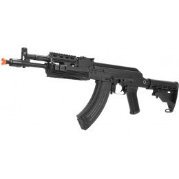 LCT Airsoft AK-104 Assault Rifle AEG w/ Folding Stock - Black