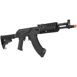 LCT Airsoft TXM AK47 Assault Rifle AEG w/ Quad RIS System – BLACK