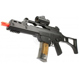 DE Airsoft R36C Full Size Spring Rifle w/ Electronic Red Dot Scope