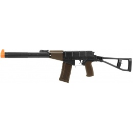 LCT Airsoft AS VAL Assault Rifle AEG w/ Integrated Suppressor - BLACK