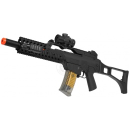 DE R36 Full Size Spring Airsoft Rifle Package w/ Red Dot Scope