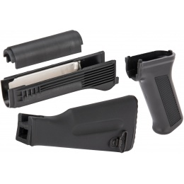 LCT Airsoft AK Series AEG Handguard and Stock Set - BLACK