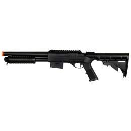DE M500 Pump Action Airsoft Shotgun w/ Retractable LE Stock
