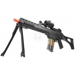 DE R36K Airsoft Spring Rifle w/ Flashlight and Red Dot Scope