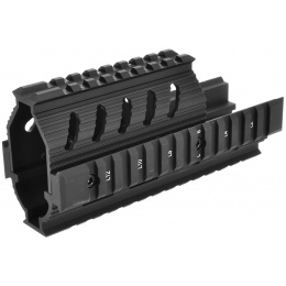 LCT Airsoft AK Series AEG Full Metal 20MM TX-1 Rail Handguard - BLACK