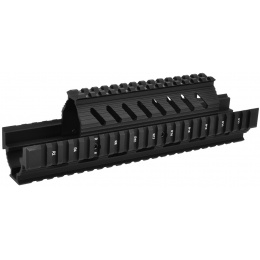 LCT Airsoft AK AEG Quad Rail Picatinny RIS Handguard - BLACK