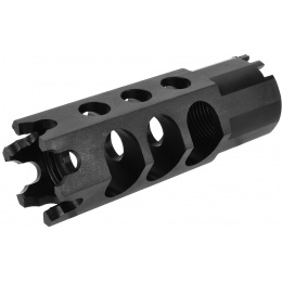 LCT Airsoft AK74UN Series AEG 24mm Hexagon Flash Hider - BLACK