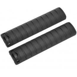 LCT Airsoft 15-Slot Handguard RIS Rail Cover Panels Set of 2 - BLACK