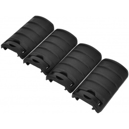 LCT Airsoft Handguard RIS Rail Cover Panels Set of 4 - BLACK