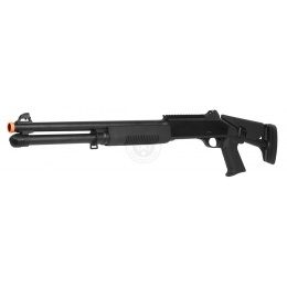 DE M3 Pump Action Multi Shot Airsoft Shotgun w/ Retractable Stock