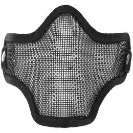 UK Arms Airsoft Metal Mesh Half Face Safety Mask - BLACK