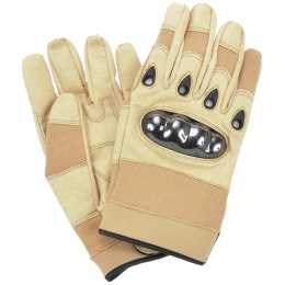 UK Arms Airsoft Tactical Safety Assault Gloves - Coyote Tan