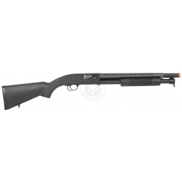 DE M58A Airsoft Tactical Shotgun M500 Heavy Hitter w/ Full Stock - BLACK