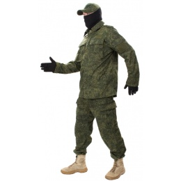 Jagun Tactical Airsoft Battle Dress Uniform BDU - DIGITAL FLORA