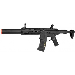 ARES Airsoft M4 Amoeba AEG Mod RIS Mock Suppressor EFCS - BLACK