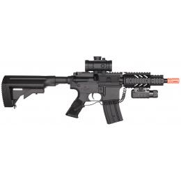 DE M4 CQC Fully Automatic Electric AEG Rifle w/ Flashlight and Scope